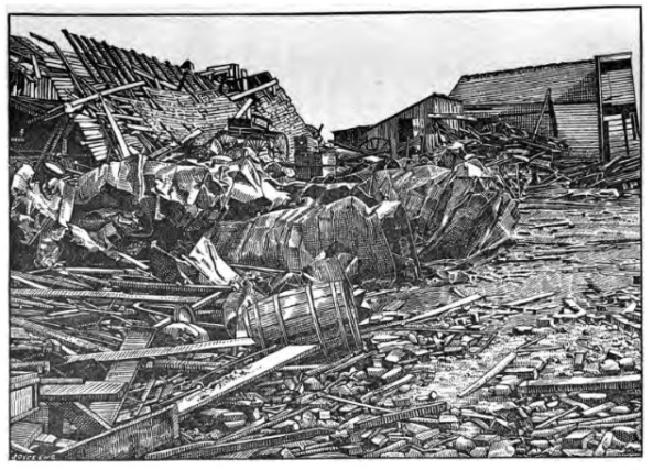 Damage from Leeds, Alabama