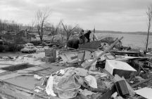 Homes destroyed near Hillsdale.